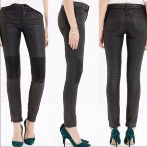 Madewell Waxed Moto skinny Jeans black 25